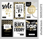 set of mobile sale banners.... | Shutterstock .eps vector #503521072