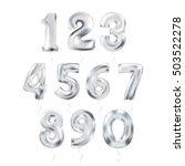metallic silver letter balloons ... | Shutterstock .eps vector #503522278