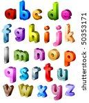 isometric alphabet   vector | Shutterstock .eps vector #50353171