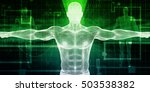 medical scan system and body... | Shutterstock . vector #503538382