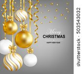 merry christmas and happy new... | Shutterstock .eps vector #503543032