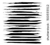abstract textured black long... | Shutterstock .eps vector #503555512