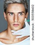 beautiful man getting botox... | Shutterstock . vector #503558602