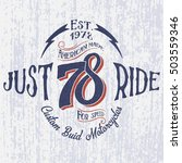 retro motorcycle logo with... | Shutterstock .eps vector #503559346