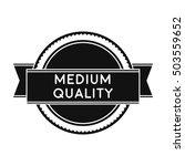medium quality icon in black... | Shutterstock .eps vector #503559652
