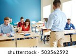education  school  teaching ... | Shutterstock . vector #503562592