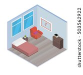 vector isometric house room ... | Shutterstock .eps vector #503562922