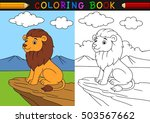 cartoon lion coloring book  | Shutterstock .eps vector #503567662