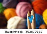 Wooden Knitting Needles On...
