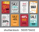 sale banner design templates... | Shutterstock .eps vector #503573632
