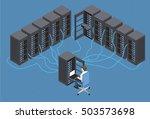isometric vector illustration... | Shutterstock .eps vector #503573698
