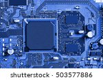 electronic circuit board close... | Shutterstock . vector #503577886