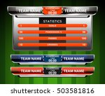 scoreboard sport template for... | Shutterstock .eps vector #503581816