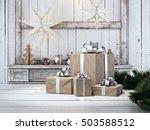 3d rendering. beautiful gift... | Shutterstock . vector #503588512