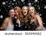 holidays  friends  bachelorette ... | Shutterstock . vector #503590582