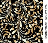 paisleys 3d baroque damask...   Shutterstock .eps vector #503595496