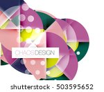 geometric abstract composition  ... | Shutterstock . vector #503595652