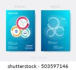creative blue modern brochure... | Shutterstock .eps vector #503597146