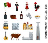 flat design portugal icons set... | Shutterstock .eps vector #503603158