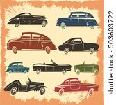 retro car models collection... | Shutterstock .eps vector #503603722