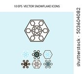 vector snowflake icon set | Shutterstock .eps vector #503604082