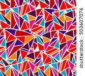seamless colorful geometric... | Shutterstock .eps vector #503607076