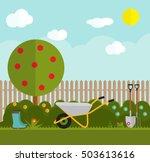 gardening flat vector. garden... | Shutterstock .eps vector #503613616
