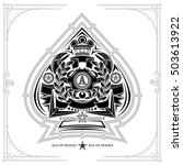 ace of spades form with crab... | Shutterstock .eps vector #503613922