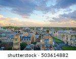 Panoramic View Of Cambridge  Uk.