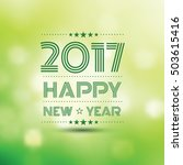 Happy New Year 2017 In Green...