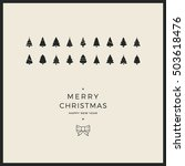 merry christmas minimal card... | Shutterstock .eps vector #503618476