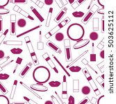 seamless pattern of different... | Shutterstock .eps vector #503625112