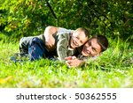 smiling father and son | Shutterstock . vector #50362555