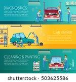 car diagnostics repair... | Shutterstock .eps vector #503625586