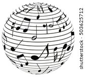 ball of the notes  note music... | Shutterstock .eps vector #503625712