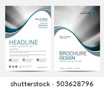 brochure annual report  layout... | Shutterstock .eps vector #503628796