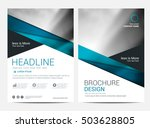 brochure annual report  layout... | Shutterstock .eps vector #503628805