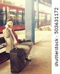 mature businessman talk on... | Shutterstock . vector #503631172