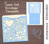 lasercut vector wedding... | Shutterstock .eps vector #503631862