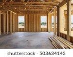 an interior view of a framed... | Shutterstock . vector #503634142