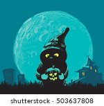 freehand drawing for halloween. | Shutterstock .eps vector #503637808