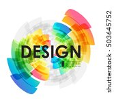 circular colorful element on... | Shutterstock .eps vector #503645752