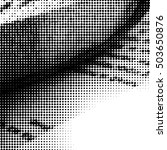 halftone dots pattern .... | Shutterstock .eps vector #503650876