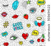 vector seamless pattern with... | Shutterstock .eps vector #503654122