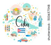 cuba attraction and sights  ... | Shutterstock .eps vector #503657548