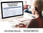 car insurance claim form concept | Shutterstock . vector #503658052
