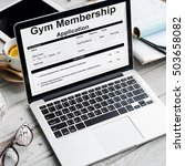 Small photo of Gym Membership Application Form Request Concept