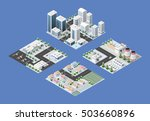 set of isometric module of the... | Shutterstock .eps vector #503660896