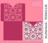 die laser cut wedding card... | Shutterstock .eps vector #503661136