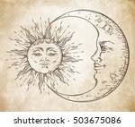 antique style hand drawn art... | Shutterstock .eps vector #503675086